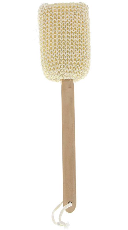 Sisal Schwamm am Stiel zum Peelen, Schrubben, Einseifen und Baden Sisalbürste Badebürste Peelingschwamm