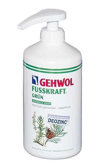 GEHWOL Fusskraft Grün, Normale Haut, Fussdeo Creme, Fußcreme 500 ml mit Spender