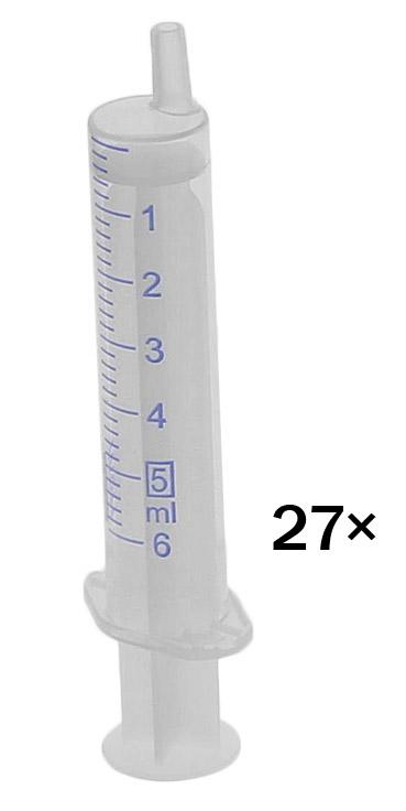 Einmal-Spritzen, mit Luer Ansatz steril, latexfrei 27× 5 ml