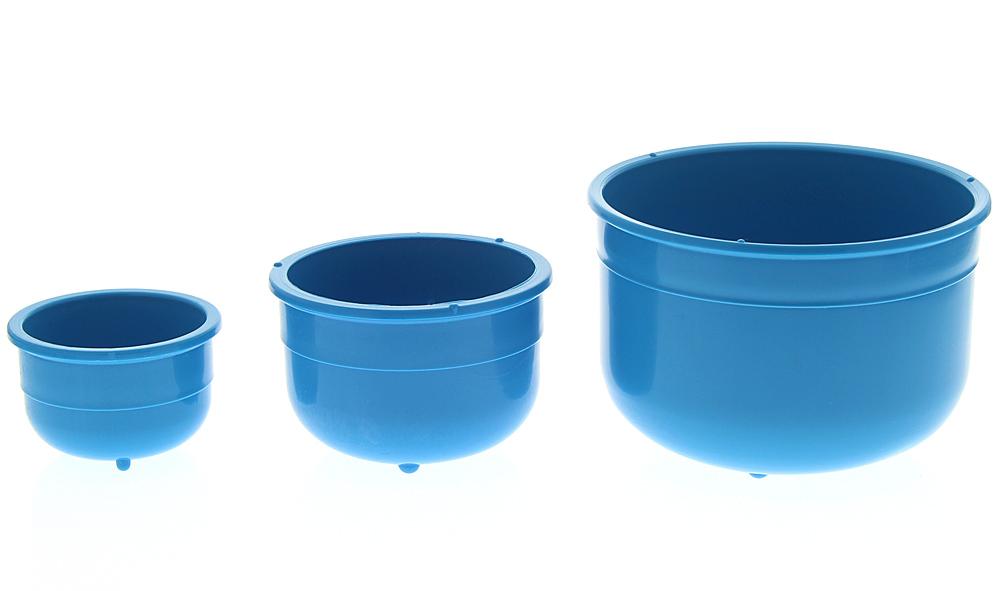 Blaue Schale aus Kunststoff f. Medizin, Kosmetik, Fußpflege, Nagel, desinfizierbar, autoklavierbar, lebensmittelecht
