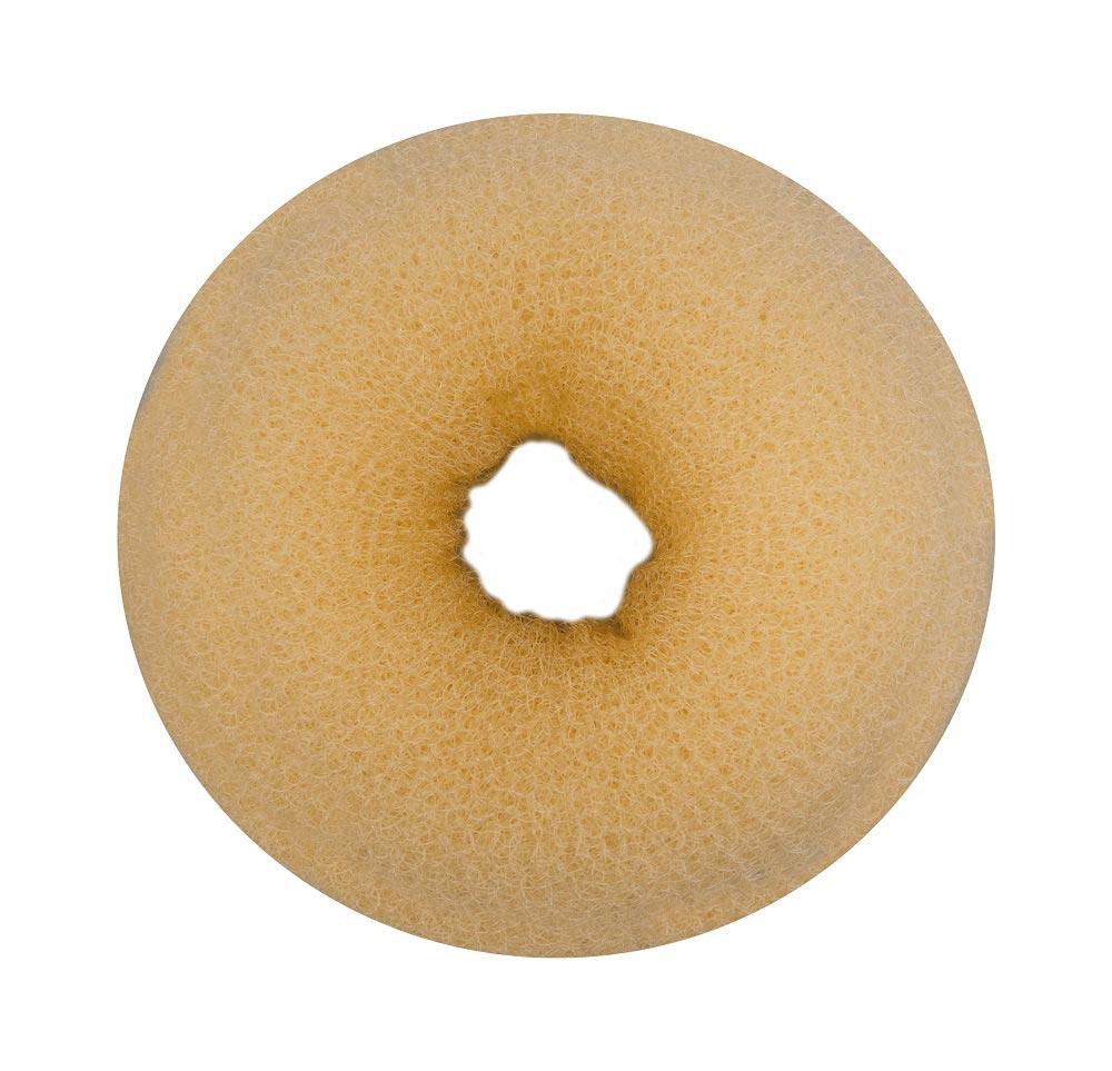 """Haargummi, Donut-Form, Krapfenform, """"Dutt"""" Haarring aus Frottee, ohne Metall 1× gold-weiß groß"""