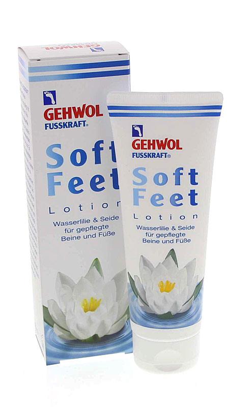 GEHWOL Fusskraft Soft Feet Lotion, Fußcreme mit Hyaluron, Wasserlilie 40 ml