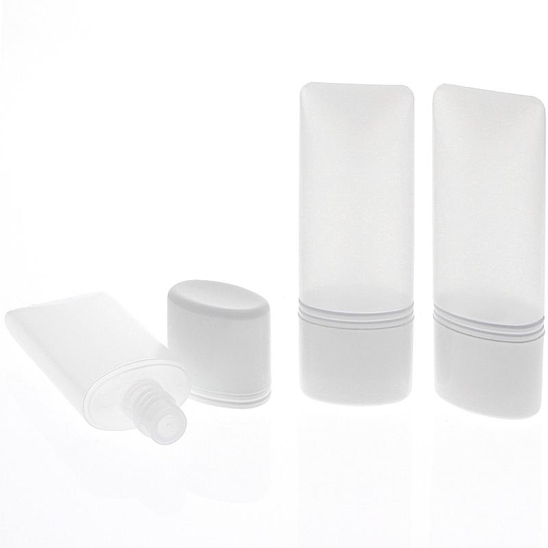 Kosmetex leere Tube für Flüssigkeiten, Cremes Plastik ideal für Reise, 30ml 3× 30 ml