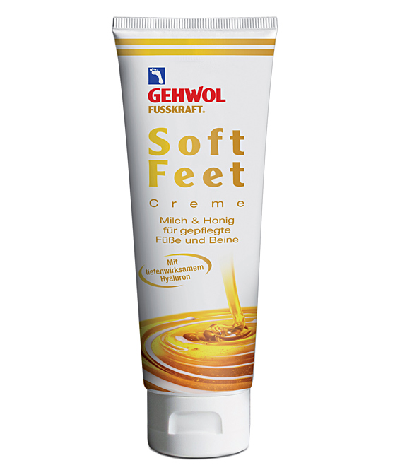 GEHWOL Fusskraft Soft Feet, Fußcreme mit Hyaluron, Urea 125 ml