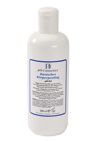 Basisches Körperpeeling pH 8,0 für die Reinigung der Haut, für unreine und angegriffene Haut, ph-Cosmetics, 500 ml