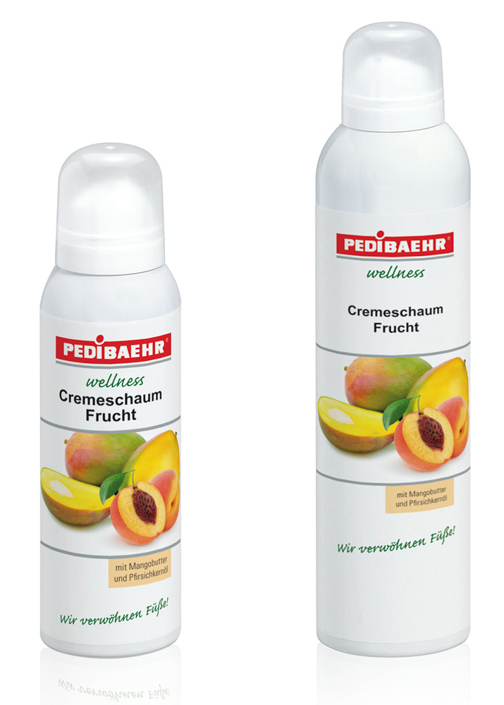 Fußschaum - Wellness Cremeschaum Frucht mit Mangobutter PediBaehr, 125 ml