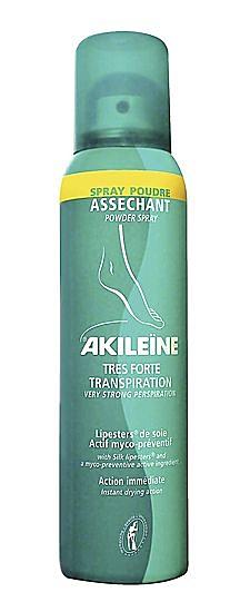 AKILEINE FORTE TRANSPIRATION, Fußpuder Anti Transpirant Puderspray für Füsse,150 ml
