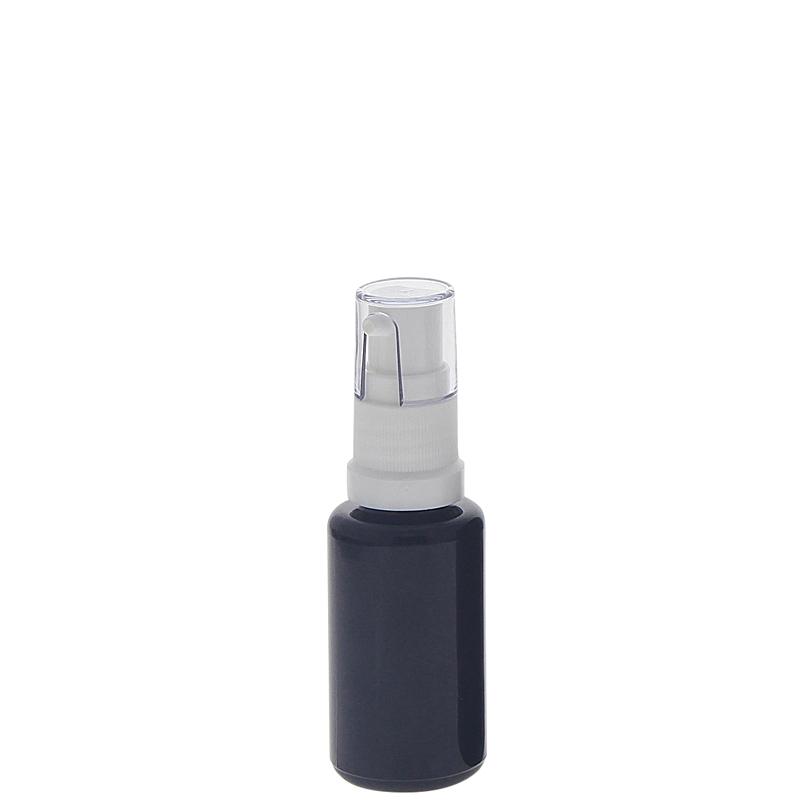Gelspender aus Violettglas, kleine Glasflasche, Kosmetex Gel-Pumper für lichtempfindliche Lotionen, Gele 20 ml