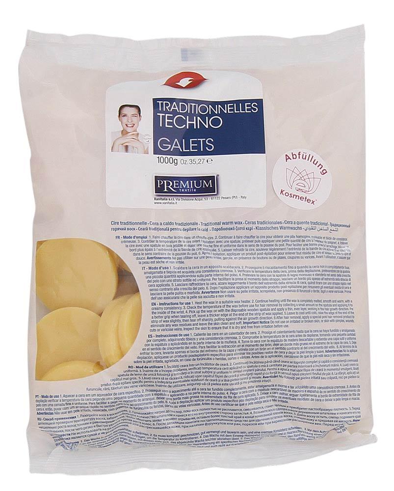 Kosmetex Premium Gialla Honig Wachs-Scheiben, Warmwachs-Taler, Wachstaler ohne Vliesstreifen, 1kg