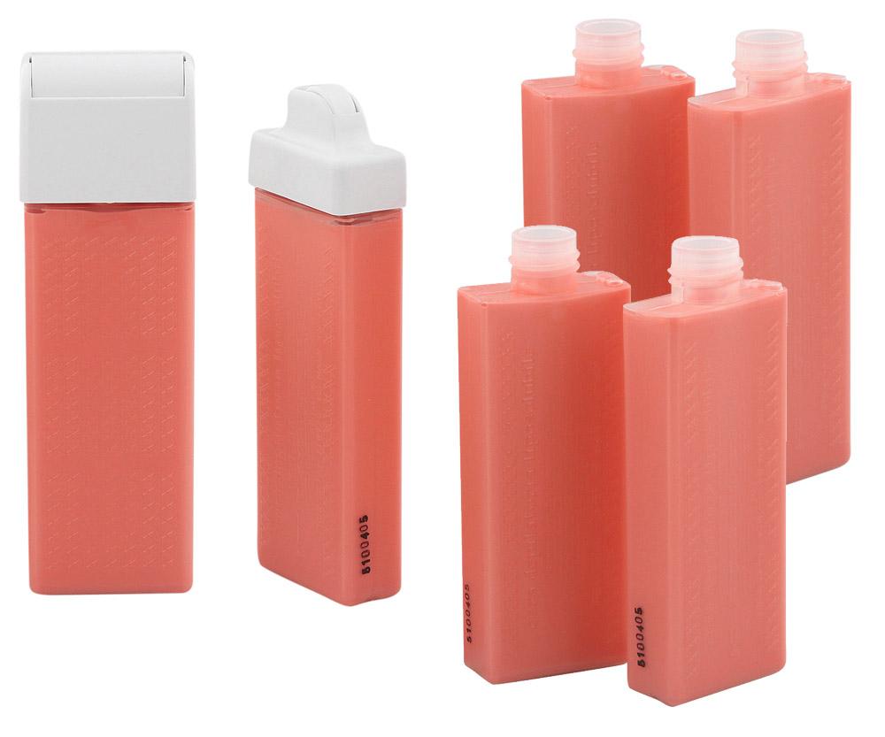 Wachspatrone Lipo America UK, USA Standard, Rosa Kosmetex 75ml Roll-on, passend für Systeme: Clean+Easy, Look-Epil