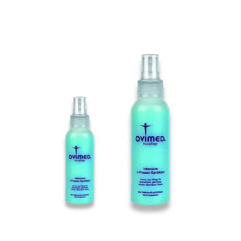 Ovimed Intensive 2-Phasen Sprühkur, Schutz und Pflege für strapazierte, glanzlose, schwer kämmbare Haare