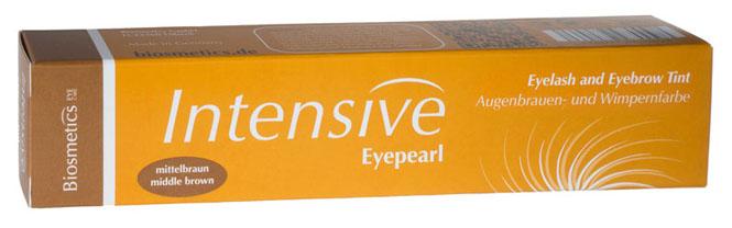 Intensive Eyepearl Wimpern- und Augenbrauenfarbe mittelbraun. Für voluminöse Wimpern. 20ml