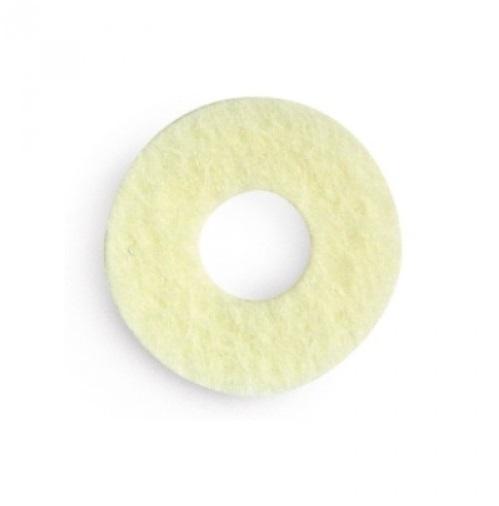 Kosmetex 9 Stück Hühneraugen-Ringe 2.5 cm, Woll-filz Runde selbstklebende Druckentlastung am Zehenbereich 2,5 cm breit