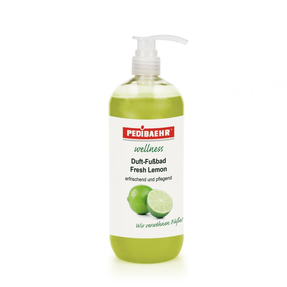 Pedibaehr Wellness Fußbad Fresh- Lemon mit Spender wohltuend und pflegend 1000 ml