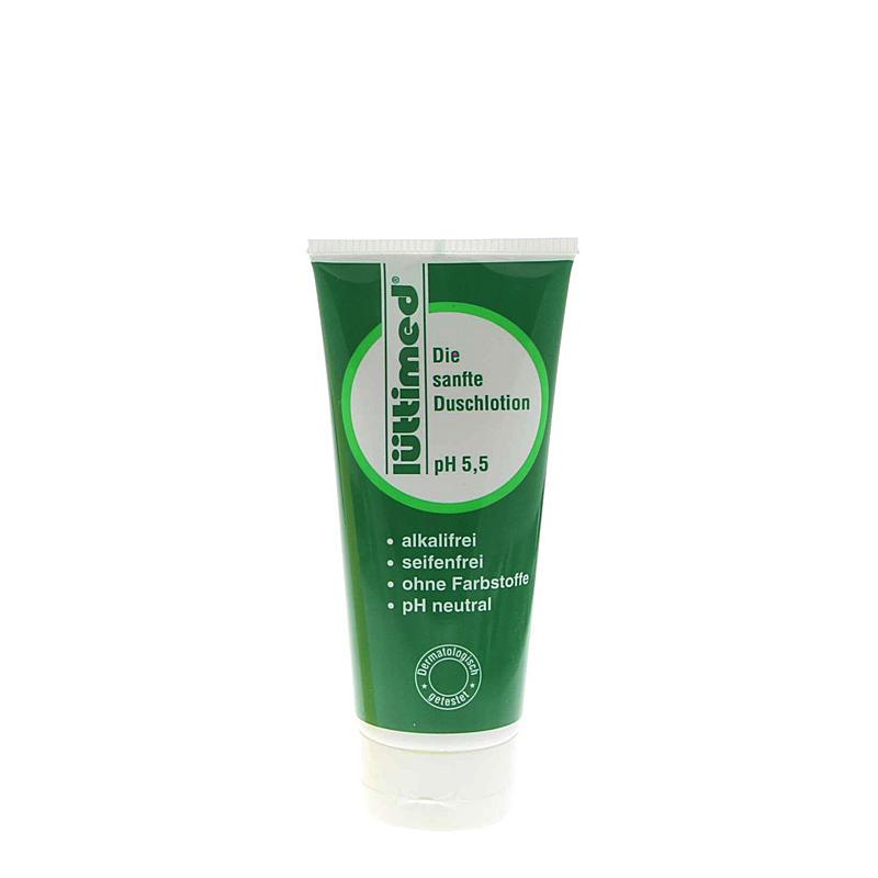 Lüttimed Seifenfreie Duschlotion, Lütticke Duschgel für Körper und Haare pH 5.5, 200ml
