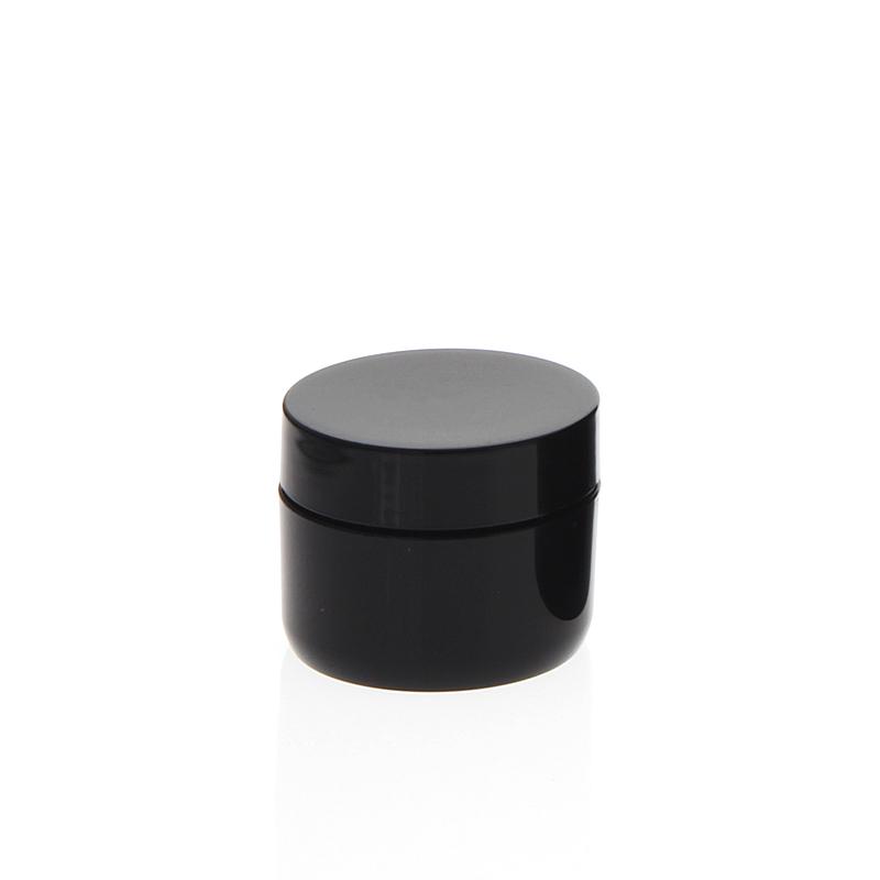 Creme-Dose für Pflege, doppelwandiger leerer Creme-Tiegel, schwarz, 10 ml 10 ml