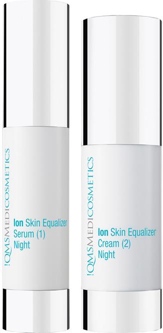 QMS Ion Skin Equalizer, Gesichtspflege Nachtcreme, Serum, Anti Aging, 2x 30ml