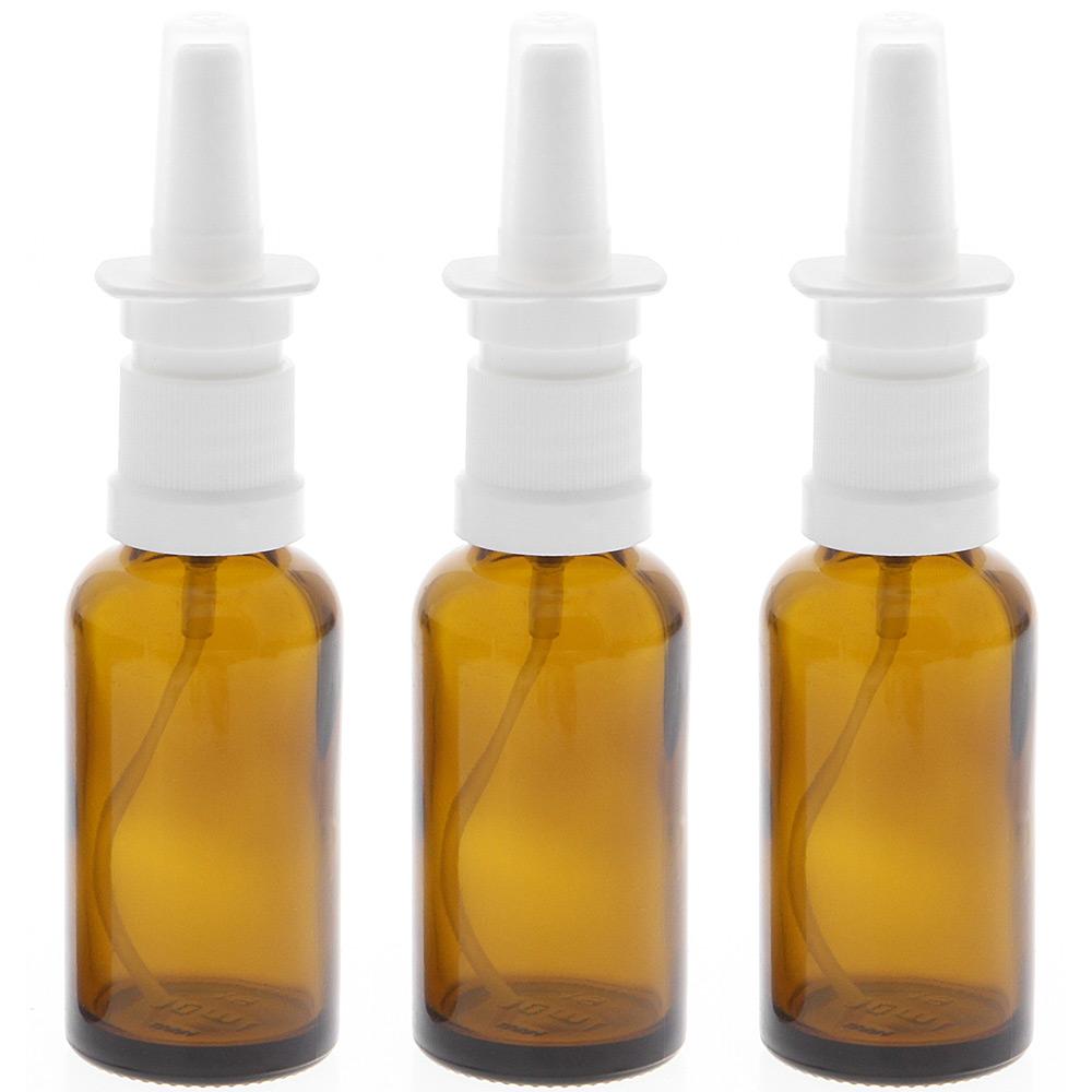 Leere Nasenspray-Flasche mit Finger-zerstäuber Kosmetex Nasenzerstäuber Sprühflasche Braunglas Vaporizer