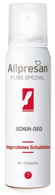 Allpresan Fuß Nr 7 Spezial Schuh-Deo, Schuhspray, für Pilz empfindliche Füße, für angenehmen Schuhgeruch, 100ml