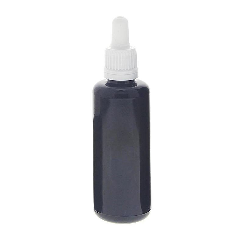 Miron-Glas Violettglas Flasche mit Pipette, leere violette Glas-Flasche, Kosmetex Pipettenflasche mit Pipettenmontur. 50 ml