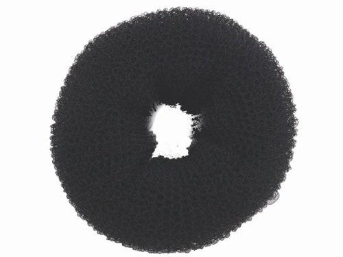 """Haargummi, Donut-Form, Krapfenform, """"Dutt"""" Haarring aus Frottee, ohne Metall 1× schwarz"""