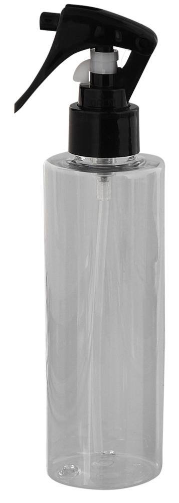 Leere Sprühkopf-Flasche 200ml, Kosmetex Sprühflasche Zerstäuber, Plastik glasklar, zylindrisch