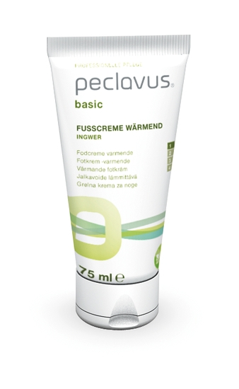 Peclavus Basic wärmende Fußcreme, Wärmender Balsam für den Fuß 75 ml