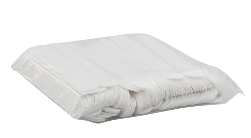 100x Mundspatel Plastik weiß, Kosmetex