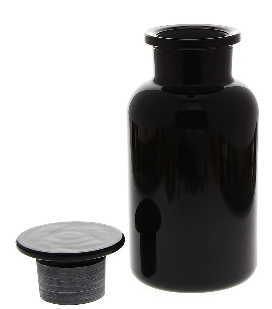 Apothekerglas Mironglas Violett-Glas, Apothekerflasche Kosmetex 500 ml, rund m. Miron Glasstopfen 500 ml