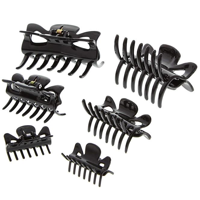 Haarklammern, Abteilklammern Greifspangen, Wellenreiter für langes Haar, schwarz Klein