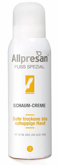Allpresan Fuß Spezial Nr 3 Schaum-Creme, 10% Urea für trockene und schuppige Füße 125 ml
