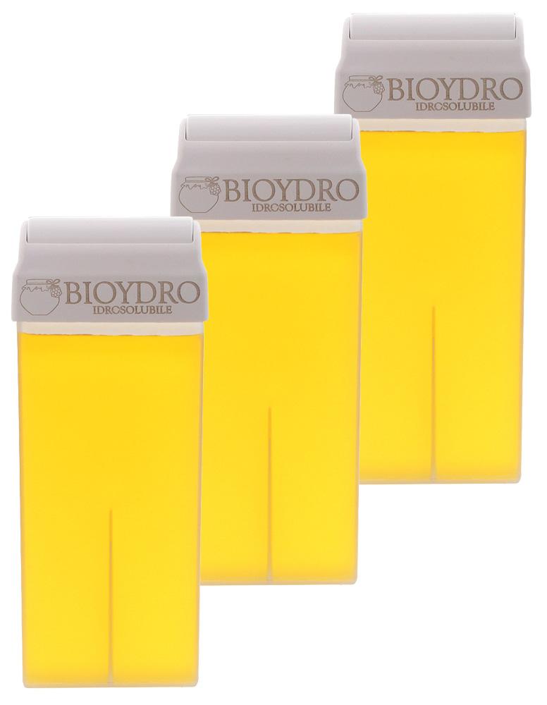 Kosmetex Wachspatrone Zucker Honig - Wasserlöslich, Warmwachs, Warmwachspatronen, Zuckerpaste Haarentfernung, Breit, 100ml 3 Stück