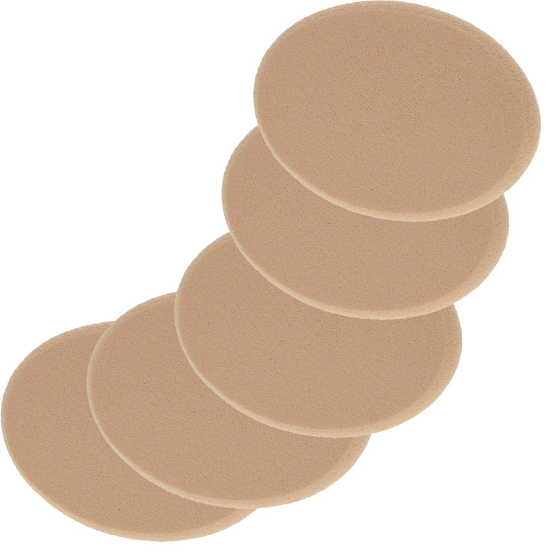 Make-up Schwämmchen Kosmetex, beige, MakeUp Schwamm oval, 7,5 cm 5 Stück