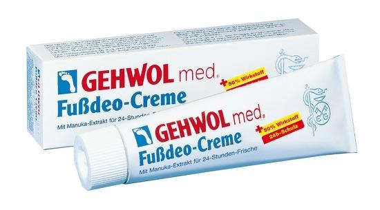 GEHWOL med. Fußdeo Creme, 24h, Fußcreme mit Manukaextrakt, Fußpilzschutz,
