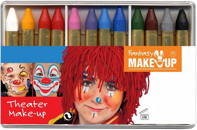 Fantasy Schminkstifte für Kinder Kinderschminke, 12× Theater Make-up