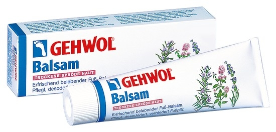 GEHWOL Balsam, trockene spröde Haut Fußcreme, mit Fußpilzschutz, 75 ml
