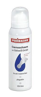 Fussschaum, trockene Haut mit Edelweiß, Fußcreme Urea, PediBaehr, 125 ml