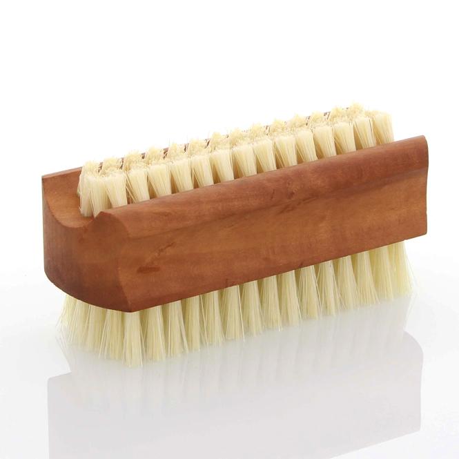 Große Nagelbürste, Kosmetex Handbürste aus Holz mit Naturborsten Birnbaum - helle Borsten