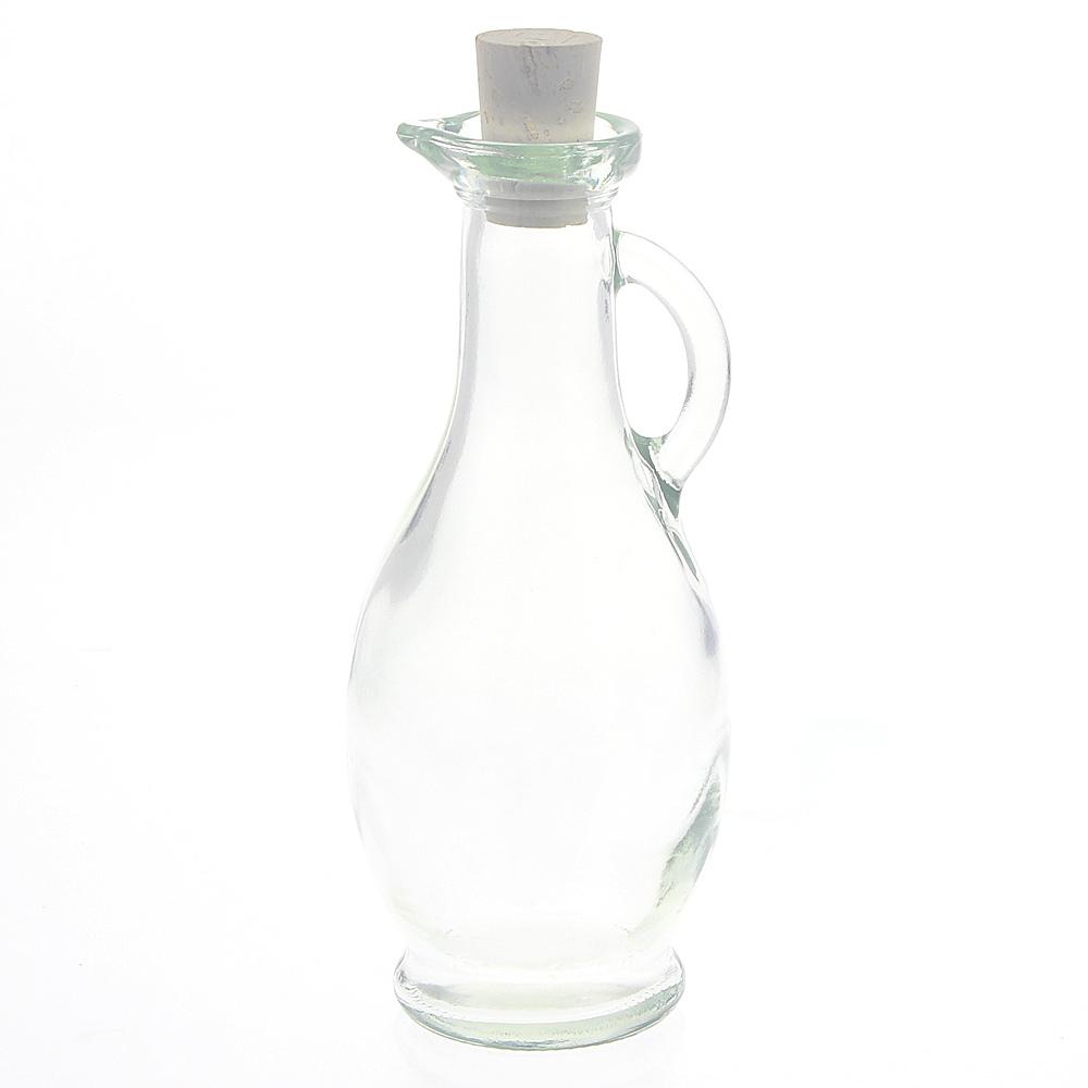 Karaffe aus Glas mit Korken universal 250ml f. Oliven-Öl, Essig, Massageöle etc. Kosmetex