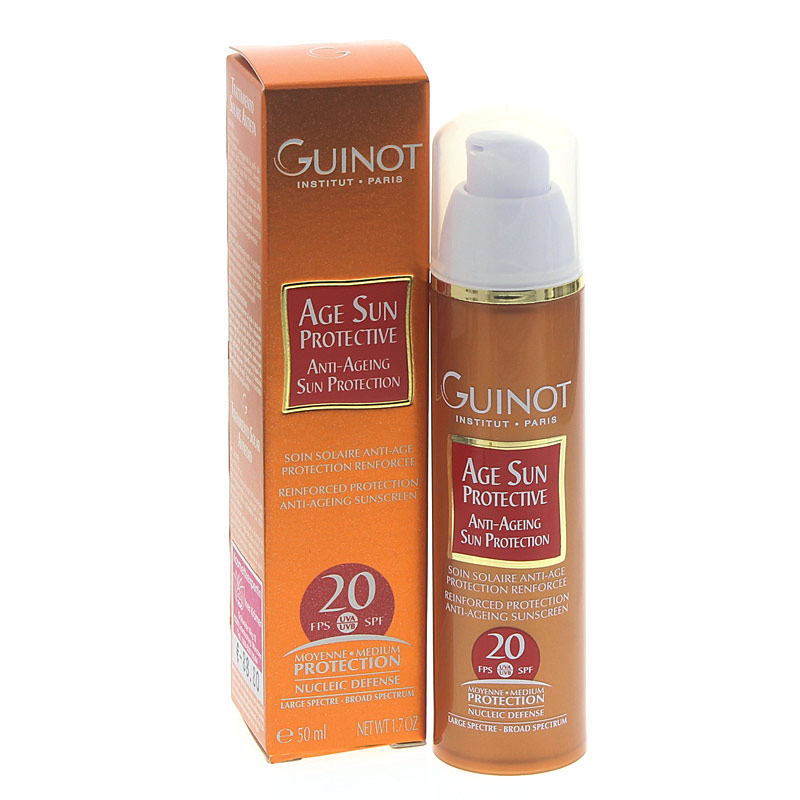 Guinot Age Sun Protective LSF 20 Tagescreme UVA, UVB Schutz 56 Wirkstoffen zur Zellregeneration u.Zellfunktion