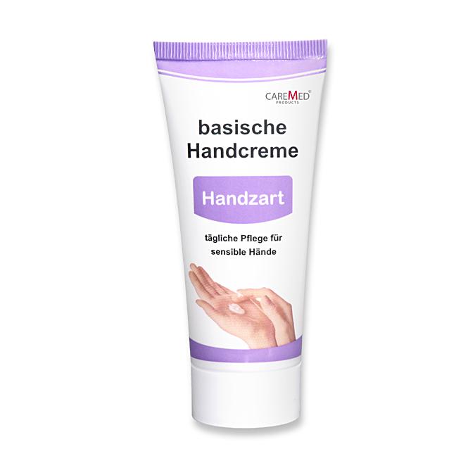 CareMed Handzart, basische Handcreme, Handpflegecreme für sensible Hände, 50 ml