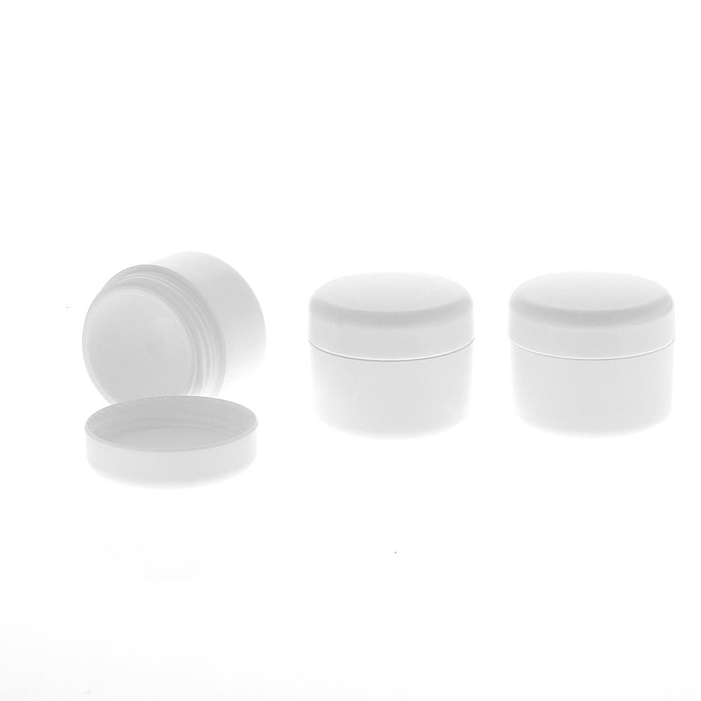 Leere Dose, Kosmetikdose weiß, 5ml Kunststoffdose, Cremedose, Kosmetex 6× 5 ml
