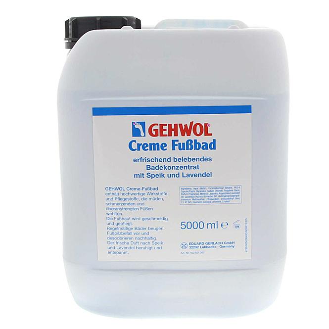 GEHWOL Creme-Fußbad, mit Lavendel belebendes Badekonzentrat, 5000 ml