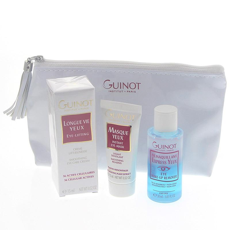 4-teiliges Guinot Mes Essentiels Yeux Set, Anti Aging, Lifting, Make Up Entferner, Gesichtspflege
