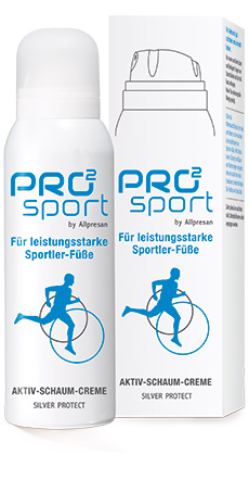 Allpresan Pro 2 Sport Aktiv-Schaum-Creme, die Sportler Fußcreme als Schaum