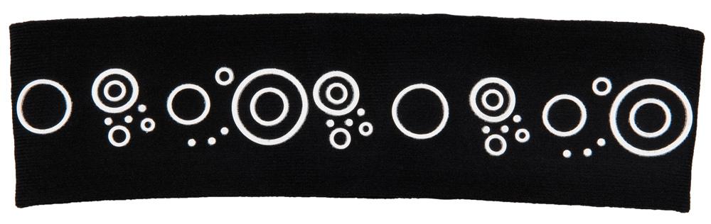 Haarband elastisch breit 5.4 cm Ø 14-22cm, schwarz