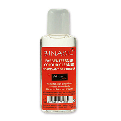 Binacil Farbenentferner, Colour Cleaner Farbfleckenentferner, Wimpernwelle, 50ml