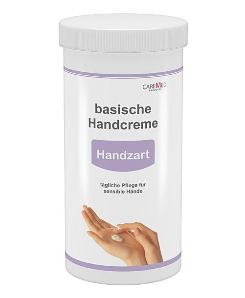 CareMed Handzart, basische Handcreme, Handpflegecreme für sensible Hände, 450ml Nachfüll