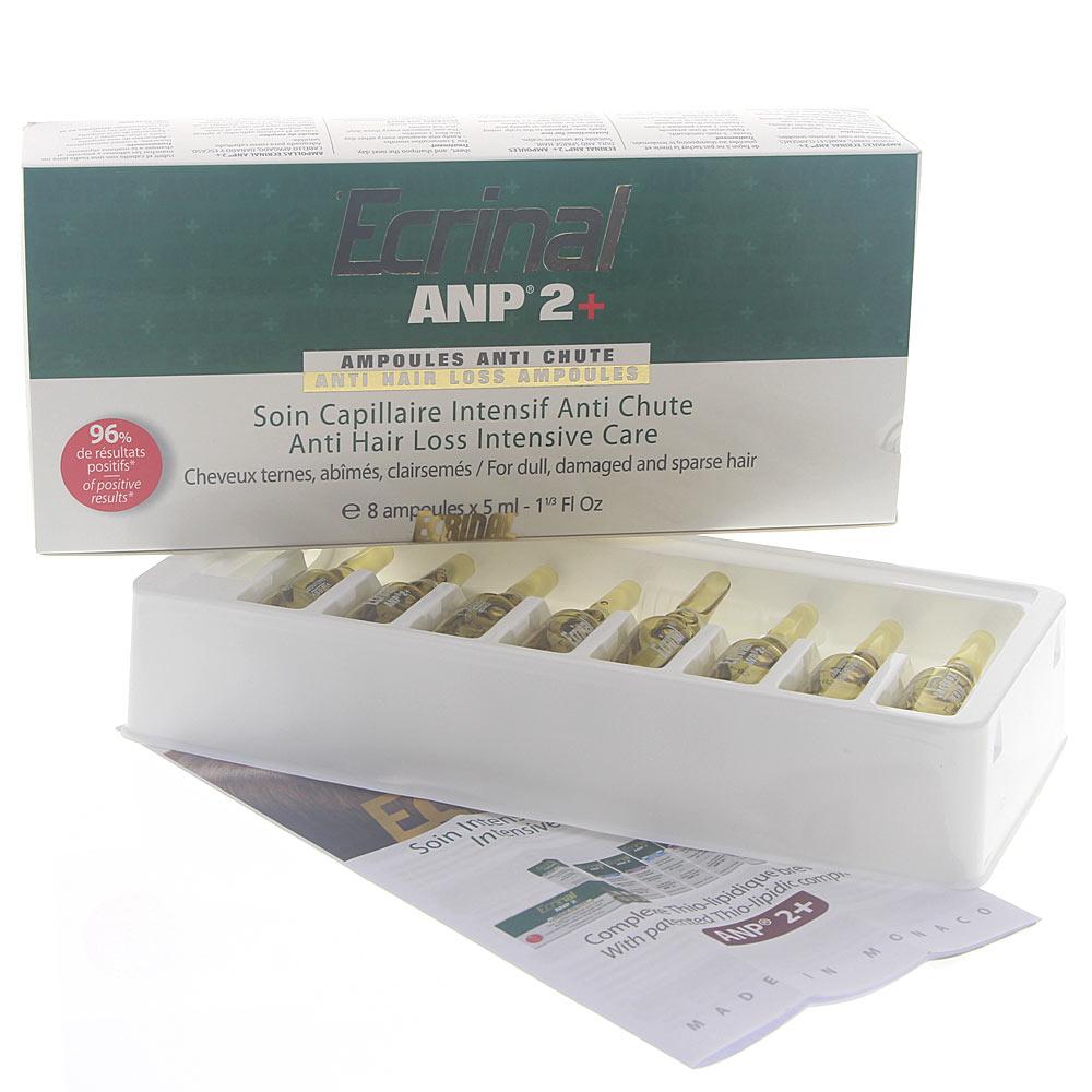 Ecrinal ANP Haar-Ampullen Kur, Intensive Haar-Behandlung bei Haarausfall, 8x5ml