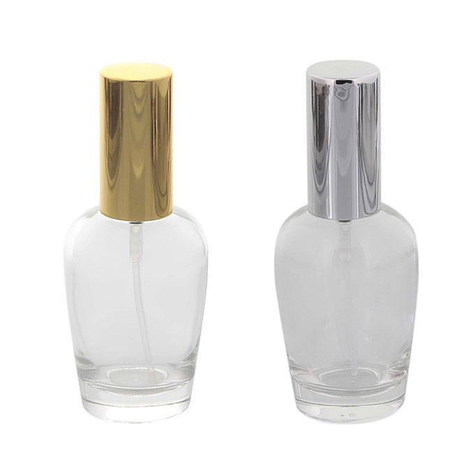 Kosmetex Parfümflakon Glas mit Zerstäuber, 30ml Flakon Flaschenform für Parfum, Colognes, leer